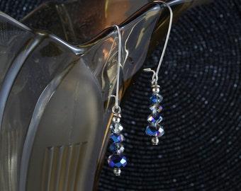 Deep Blue Sea - Crystal earrings