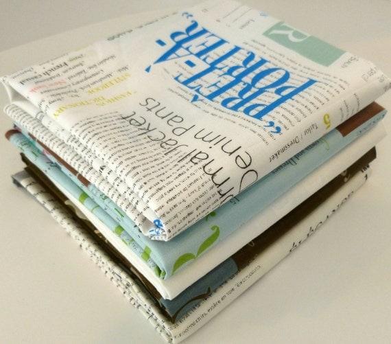 Fashion Show in Small Print  by Suzuko Koseki for  Yuwa of Japan- Fat Quarter Bundle
