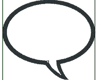 Speech Bubbles  Machine Embroidery File ONLY Word Balloon Both Right and Left