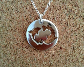 Dolphin Necklace Sterling Silver Dolphin Necklace Dolphin Jewelry Ocean jewelry