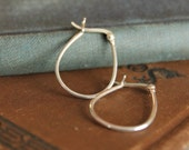 Vintage Sterling Silver Hoop earrings oblong/bell shape stamped 925 Great condition!