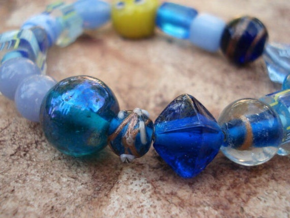 Blue Bracelet, Fashion Jewelry, Gifts for her, stackable bracelets, women's bracelet, beaded bracelets, Stretch Bracelets, For Her