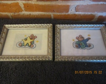 Baby Bear Wishing Upon a Star Nursery Pictures
