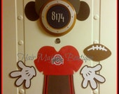 Mickey Mouse Any Team Football Player Body Part Magnet for Cruise Door