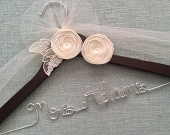 Wedding Shower Gift, Wedding Hanger, Wedding Dress Hanger, Bridal Hanger, Custom Wedding Hanger