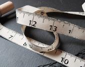 Tape Measure Pattern 100 Percent Cotton Rustic Ribbon 15mm