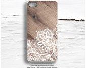 iPhone 6S Case, iPhone 6S Plus Case Wood Print, Floral iPhone 5s Case, Wood Floral iPhone 6 Case, Lace iPhone Case, Floral iPhone Cover T168