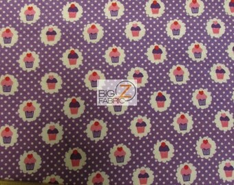 "Mini Cupcakes By Michael Miller Flannel Fabric 44"" Width Sold By The Yard - FH"
