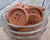10 Wooden Buttons