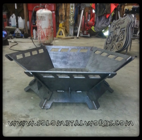 36 Hexagon 25 Steel Plate Modular Fire Pit Kit By