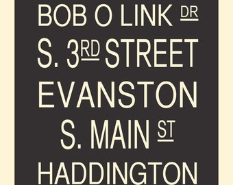 Custom Subway / Street name art