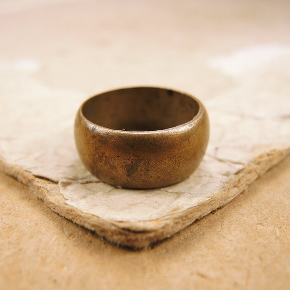 vintage brass ring simple wedding ring j30 by vintageussr