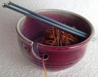 Big, beautiful copper red, one of a kind yarn bowl