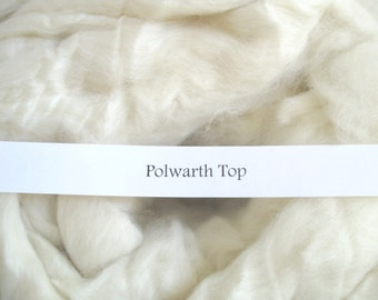 1lb Polwarth Combed Top Wool Roving Undyed Wool Spinning Fiber for Dyeing Ecru