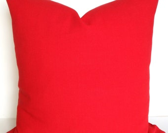 RED PILLOWS Throw Pillows Solid Red Throw Pillow Covers Decorative pillows 16 18 20x20 .All Sizes. home decor Home and Living