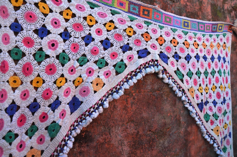 Toran crochet boh me vintage rideau temple indien porte - Rideau boheme ...