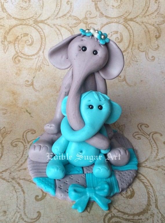 how to make a fondant elephant cake topper