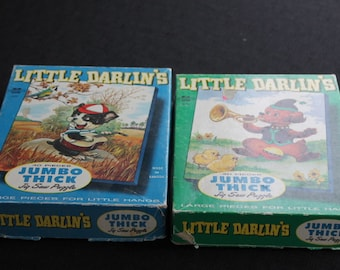 Pair Children's L'il Darlins Extra Thick 40 Piece Puzzles