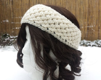 CROCHET PATTERN - Braided Woven Cables Wide Earwarmer Headband Download