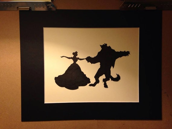 Disney Belle And Beast Dancing Silhouette
