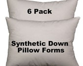 Pillow Forms, Pillow insert,  synthetic down alternative all sizes available - 6 Pack
