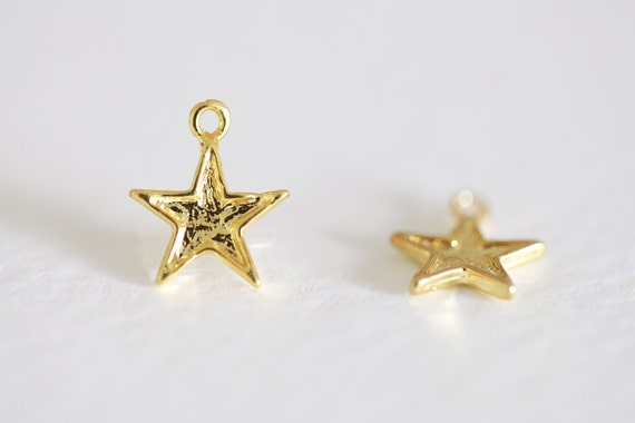 Vermeil gold star reversible small dainty k
