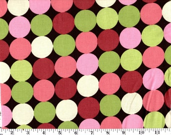 1 Yard, Multi Dots on Brown Brother Sister Design Studio B24-HAO-P15-BRN