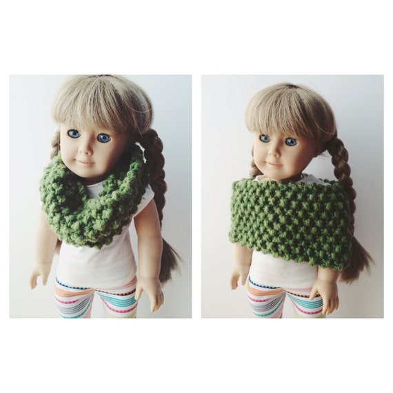 "American Girl 18"" Doll Cozy Evergreen Cowl Capelet"