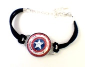 Avengers Bracelet // Magnetic Avengers Bracelet // Loki, Thor, Black Widow, Iron Man, Hawkeye, Captain America, Winter Soldier, The Hulk