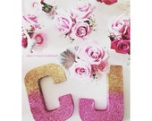1 Single Glitter Covered Decor Letter: Wedding, Baby Shower, Table Numbers, Mantle, Bat Mitzvah, Frozen Party, Princess Party, Bridal Shower