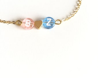 Initial necklace - Personalized necklace Love necklace - Dainty everyday jewelry - Custom monogram necklace