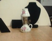 Vintage Mini Porcelain Oil Lamp for Collectors and Doll Displays