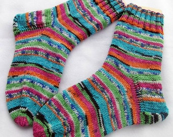 Hand Knit Socks  for Women UK 5-7, US 7-9