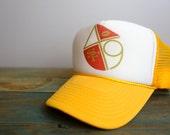 Vintage San Francisco 49er's Snapback Yellow & White Trucker Hat
