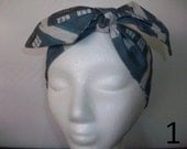 Blue Police Boxes Headband / Hair Tie White Back Ground