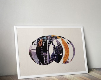 Abstract 4 colour screenprint, Ideal for home decor or a great gift