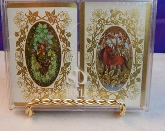 Hoyle Plastic Coated Cards - Vintage Set of 2 Decks in Box