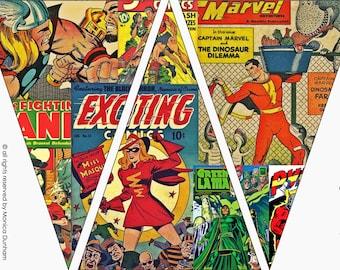 Comic Superhero {PICTURE} Bunting {INSTANT DOWNLOAD}