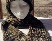 Camouflage Hat and Scarf Set