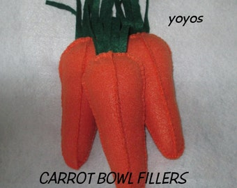 CARROTS,  BOWL FILLERS,  Tucks, Set of Three, Spring Decor,  Novelty Accent,  Home Décor, Vegetables, Table Decor, Gift Baskets, Garden