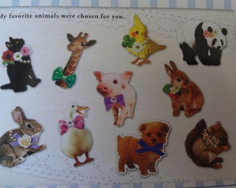 MIND WAVE Kawaii Animal 70pcs stickers