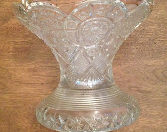 Pressed glass compote c1910-20s.