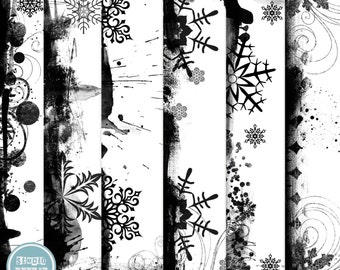 Digital Overlays Pack, Digital Scrapbooking, Christmas Overlays ( 12x12 Inch ) 300 dpi vol.2- INSTANT Download