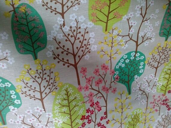 Leinen Vorhang Panel Beige grau grün braun gelb von Dreamzzzzz