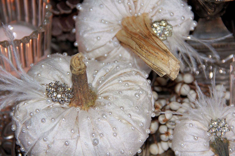 Fall Wedding Centerpiece Set Of 6 Pumpkins Bridal Baby Shower