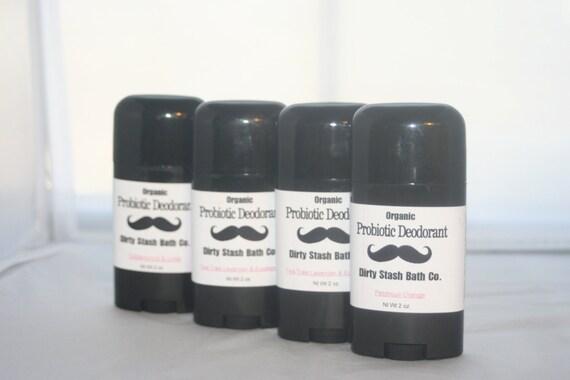 2.5 oz Natural Probiotic Deodorant-made with Organic ingredients  Citrus Mash essential oils
