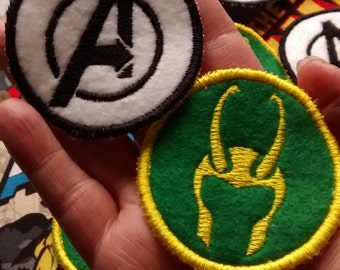 Marvel Comic's Avengers and Loki Sew On Patches