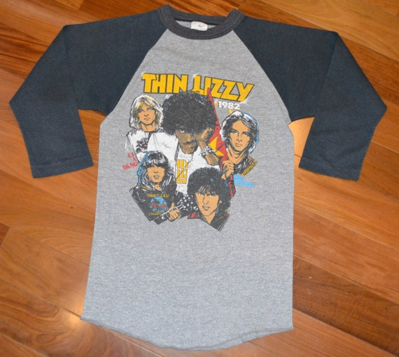 1982 thin lizzy vintage concert tour rock band by for Banded bottom shirts canada