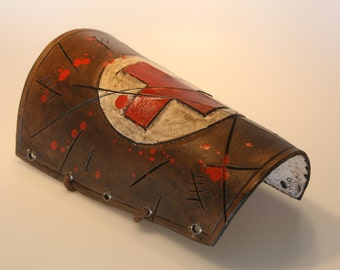 steampunk leather bracer ,medic edition 5 ,made to order