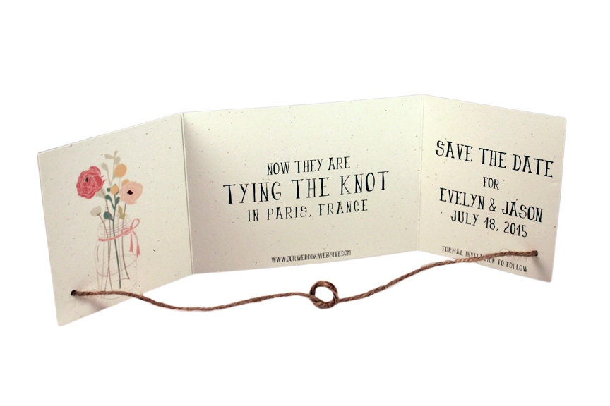 sle rustic tying the knot save the date tying the knot